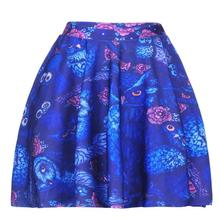 Europe Popular Women Sexy Pleated Skirts Tennis Bowling Bust Shorts Skirts Owl Birds Female Fitness Sport Apparel A Style