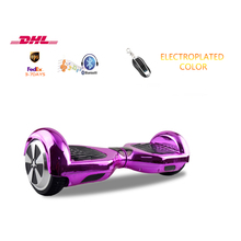 6.5 inch 2 wheels scooter chrome shell hoverboard with Remote Key Bluetooth self balance scooter free shipping 3-8 days delivery