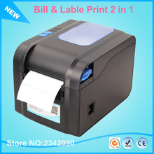 New XP-370B Label Barcode Printer Thermal Label Printer 20mm to 80mm Thermal Barcode Printer 2 in 1 with printing bill & lable