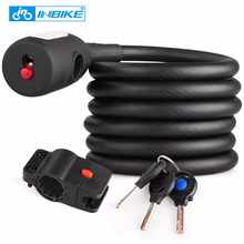 Inbike Bike Lock 1.8m Anti-theft Bicycle Coiling Cable Locks Cycling Password Combination Security Lock 3 Keys LED Light CB105