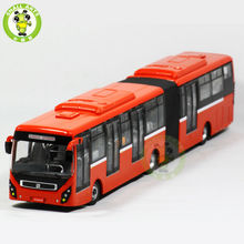 1/64 Volvo Articulated Bus Models Karachi Lahore Pakistan BRT Diecast Bus Model(China)
