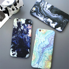 Popular Moon Marble Space Map Case Slim Good quality Hard Plastic Phone Case Cover For iPhone 7 7Plus  6 6Plus 6S 6SP 5 5C 5S SE