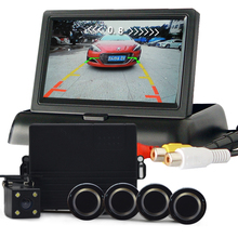 4.3 inch car Monitor Car Parking Sensor Reverse Backup Assistance Car HD Visual Reversing Radar all-in-one System(China)