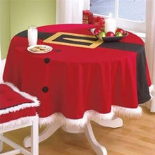BitFly XMAS StyleTable Cloth Round Hotel Tablecloth Christmas Wedding Party Banquet Table Cover Home Textiles 148CM
