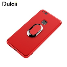 Car Bracket Function Magnetic Ring Holder TPU PC Hard Casing Cover for Huawei P10 Lite