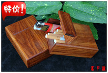 Cigarette case card box Bruma Rosewood Mahogany padauk Playing pieces Decoration business card Jewelry box Solid wood(China)