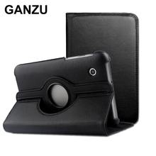 Rotating 360 PU Leather Case Cover For Samsung Galaxy Tablet 7.7 inch P6810 P6800 High Quality Books Case With Stand Holster