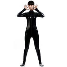 Buy high quality Glue tights Latex Pvc Women Zentai suit Catsuit PoleDanceJumpsuit Costume HalloweenGame Uniforms Clubwear Bodysuit