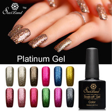 Saviland 1pcs 10ml Diamond Bright Platinum LED UV Nail Gel Polish Long-lasting Soak-off Vernis Fingernails Glitter Decoration(China)