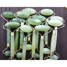 Green Jade Roller Massager Eye Face Neck Facial Relaxation Slimming Tool Jade Roller Massager Face Body Head Neck Foot stone