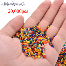 20000 Pcs/Packet Orbeez Colorful Soft Crystal Water Paintball Gun Bullet Growing Water Pearls Grow Balls Gun Toys Water