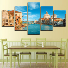 5 Pieces Venice Italy Landscape Pictures Painting Home Decor Canvas Print Water City Poster Wall Art Decor Painting Artwork(China)