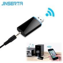 JINSERTA Mini USB Wireless 4.1 Bluetooth Receiver 3.5mm Audio Music Adapter A2DP Headphone Home Stereo Speaker Sound System