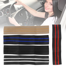 1PC Multi-Colors Select DIY Leather Car Auto Steering Wheel Cover With Needles And Thread Accessories High Quality Free Shipping
