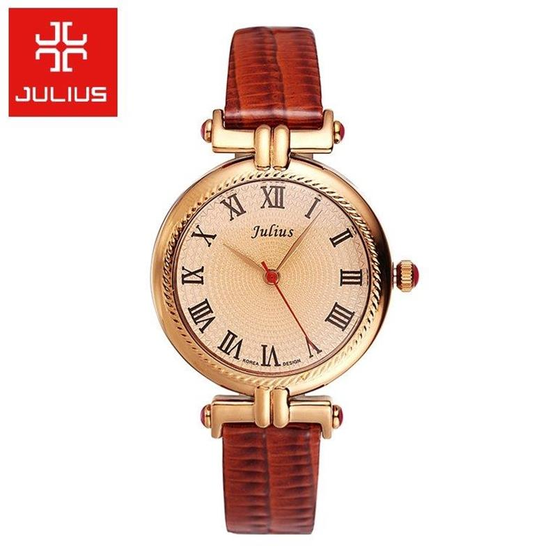 Top Julius Lady Woman Wrist Watch Elegant Simple Rome Fashion Hours Retro Dress Bracelet Leather School Girl Birthday Gift <br><br>Aliexpress