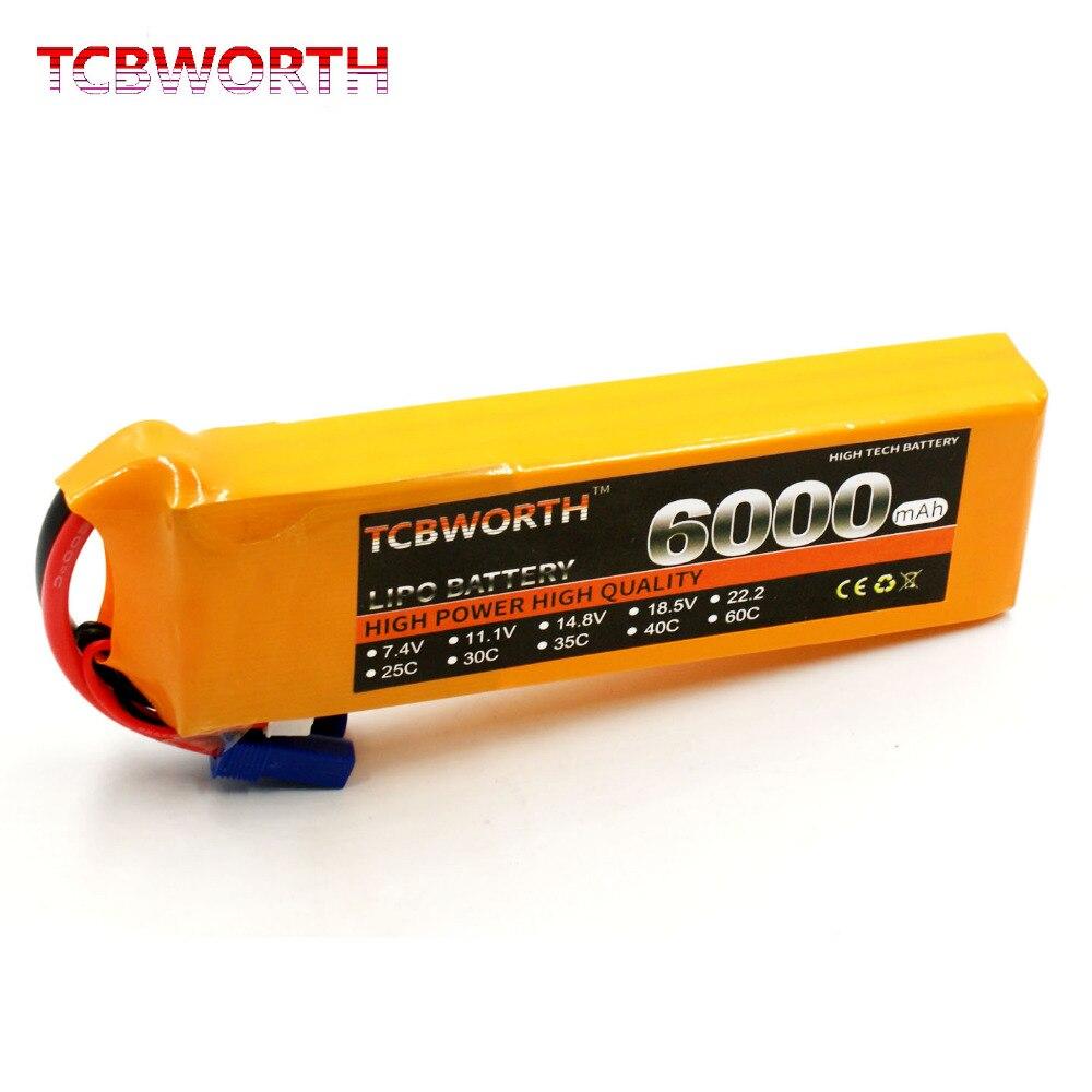TCBWORTH 3S RC Quadrotor LiPo battery 11.1V 6000mAh 40-80C For RC Airplane Helicopter Quadrotor Drone AKKU Li-ion battery<br>