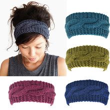 Women's Wool Crochet Turban Headband Winter Warm Elastic Hairband Head Wrap Bandage Headbands Headwear Girls Hair Accessories(China)