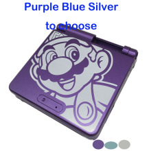 Light Blue Silver For Mario Design Full Housing Shell Cover Case For Gameboy Advance SP For GBA SP Console Housing Case