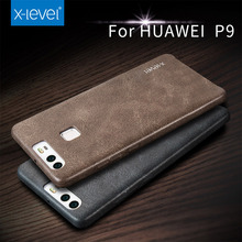 2017 X-Level PU leather For Phone Case Huawei P9 Plus Back Cover For Huawei P9 Cases Phone Accessories Business Vintage Simple(China)
