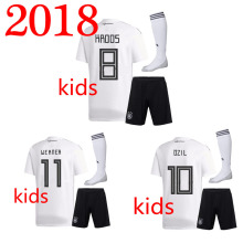 HOT 2018 Germany Kids Home Away t shirts Top shirt casual German Kids shirts Suit and socks A tops T shirts(China)
