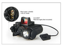 DBAL-D2 Dual Beam Aiming Laser Red  w/IR LED Illuminator Class 1 Hunting Weapon Light  Paintball Accessory HS15-0088