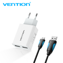 Vention 5V 1A 2.4A USB Charger Portable Travel Wall Charger Adapter EU Plug For samsung s8 iphone 7 Xiaomi Mobile Phone Charger(China)