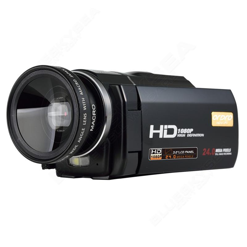 """ORDRO HDV-F5 1080P Digital Video Camera Max 24MP 16X Anti-shake 3.0"""" Touch Screen LCD Camcorder DV With Remote Controller 13"""
