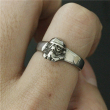 2017 Polishing New Silver Mini Star War Ring 316L Stainless Steel Jewelry Fashion Gothic Movie Style Mask Skull Ring