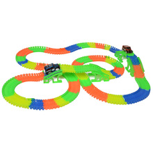 Track hot wheels railway road magic truck flexible toys for boys children railroad glowing tracks cars luminous racing diy track(China)