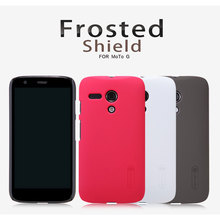 Original Nillkin Frosted Shield Cell Phone Case for MOTO G Plastic Hard Back Cover Matte Case Capa + Screen Protector