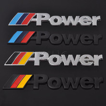 Car Sticker Emblem Metal Badge Decal For BMW M Power M3 M5 M6 E46 E30 E34 E36 E39 E53 E60 E90 F10 1 3 4 5 6 7 E Z X Car Styling(China)