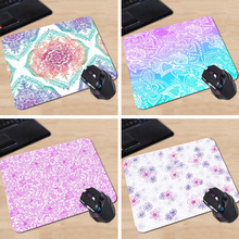 Babaite Country Floral Purple Funny 180X220X2MM 250X290X2MM Rectangel Mouse Pad Mat Gaming Mouse pad