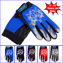 5-10 Years Kids Road Bike Gloves Autumn Riding Full Finger Cycling Gloves Mountain Bicycle MTB Children Boys Girls Sports Gants