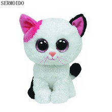 "Beanie Boos 6"" 15cm Frights Black Cat Plush Stuffed Animal Doll Toy Collectible Big Eyes Puppy Dolls Toys S16"