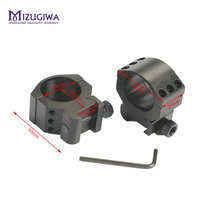 MIZUGIWA Profile Heavy Duty Shock Proof 6 Bolts 30mm Ring Trilho de 20mm Weaver Picatinny Rail Mount Scope Lasers Flashlights