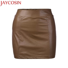 Buy 2017 Women Sexy Bandge Leather High Waist Pencil Bodycon Hip Short Mini Skirt Z728 Dropship for $6.08 in AliExpress store