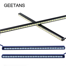 Ultra-thin Led Strip Daylight 18/24/30 LED SMD AUTO Car Daytime Running Lights  DRL Fog Light Source Car Styling 12V AE