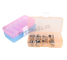 5 colors Removable Transparent Jewelry Storage Box Ring Earring Beads DIY Making Bxoes Beads Portable Organizer Case Travel Bins(China)