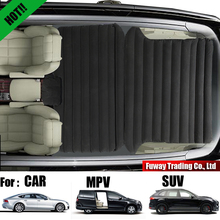 Multifunctio Deflatable Air Inflation Car Bed Mattress Back Seat Cover Camping Flocking PVC Drive Travel For Car MPV SUV