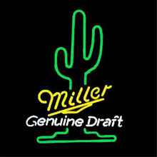 "17*14"" MILLER GENUINE DRAFT NEON SIGN REAL GLASS BEER BAR PUB LIGHT SIGNS store display Restaurant Shop Advertising Lights(China)"