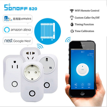 Hot Sonoff S20 Smart Home Charging Adapter Wireless Smart Switch WIFI home automation Power Socket by phone work with Alexa