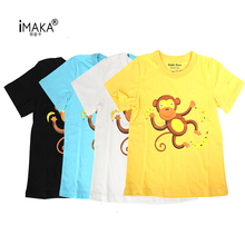 IMAKA New 2017 Boy's T Shirt Popular Cotton Short-Sleeved T-Shirt Printing Children's Cartoon Kids Boys Child's Clothes