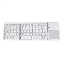 B033 Mini Bluetooth Ultra Light Folding Pocket Keyboard Touchpad with Three Layers Compatible with Windows / iOS / Android