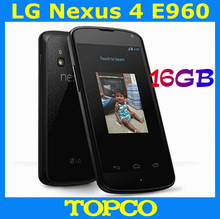 Original unlocked LG Nexus 4 E960 GSM 3G Android phone 4.7'' IPS Quad-core WIFI GPS 8MP 16GB LG E960 mobile phone free shipping(China)