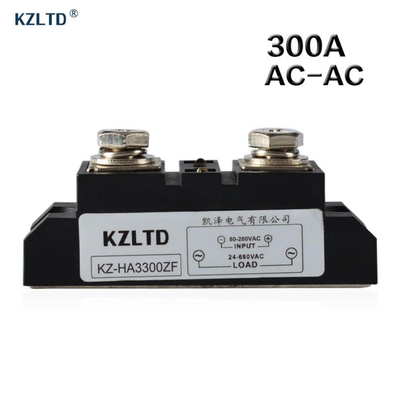 KZLTD SSR-300A Industrial SSR Relay 300A AC-AC Solid State Relay 300A 80-280V AC to 24-680V AC Relay SSR Solid State Relays<br>