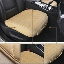 Auto Single Front Row Seat Cover Winter Plush Anti Slip Car Seat Lattice Cushion Seat Cover Pad Mat Chair