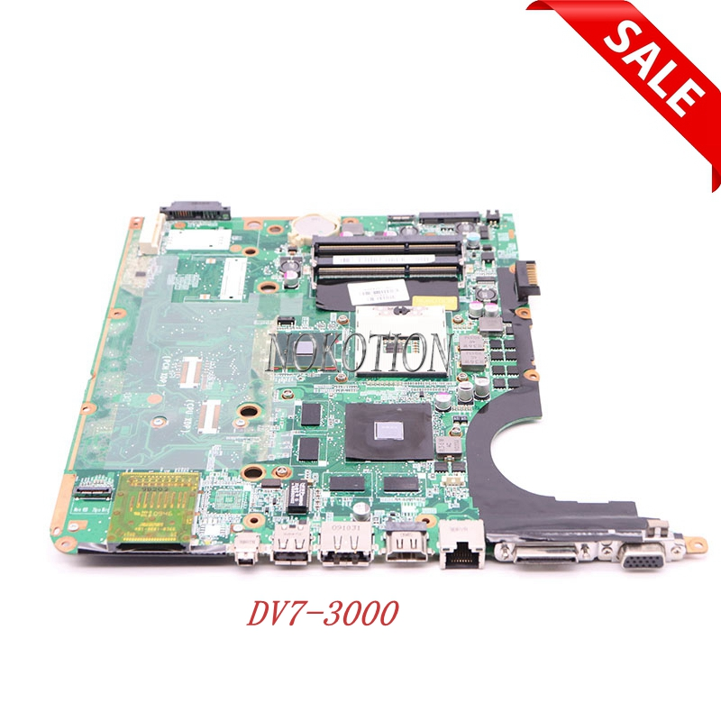 NOKOTION 575477-001 DA0UP6MB6E0 REV E Laptop motherboard for HP Pavilion DV7-3000 Series Main board full tested
