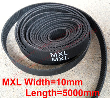 "whole sale 5 meter MXL open Timing belt Pitch 0.08""(2.032mm) Neoprene width 10mm MXL Timing belt pulley free shipping(China)"