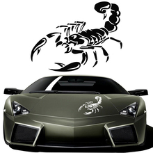 car-styling 3D Car Stickers For AUTO Motorcycle Ferocious Scorpion Pattern 28cm Stickers For bmw vw ford toyota kia opel renault(China)