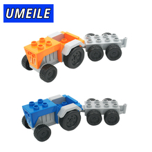 UMEILE Brand Original Classic City Tractor Wagon Model Block Educational Kids Toys Paly House Game Gift Compatible with Duplo(China)